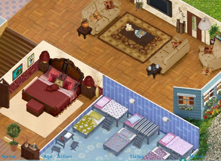Living Room And Master Bedroom Combo